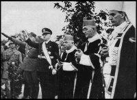 arcebispo Stepinac (dir.) e Ustashas