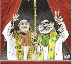 Humor Charge Angeli Lula e o Papa Habemus Acordum